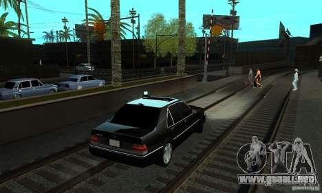Mercedes-Benz 400 SE w140 Deputat Style para GTA San Andreas vista posterior izquierda
