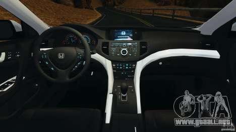 Honda Accord Type S 2008 para GTA 4 vista hacia atrás