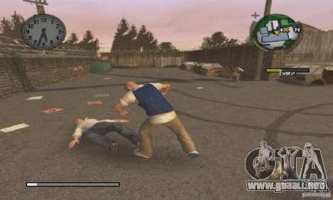 Arranque prediseñadas Bully Scholarship Edition para GTA San Andreas tercera pantalla