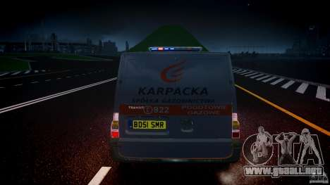 Ford Transit Usluga polski gazu [ELS] para GTA 4 vista desde abajo