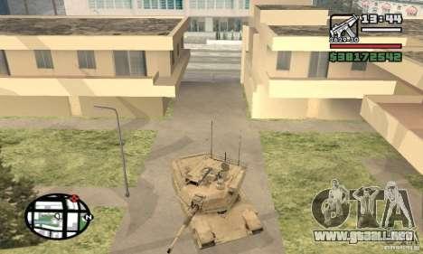 M1A2 Abrams TUSK para GTA San Andreas vista hacia atrás