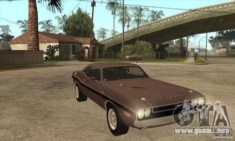 Dodge Challenger R/T Hemi 426 para GTA San Andreas vista hacia atrás