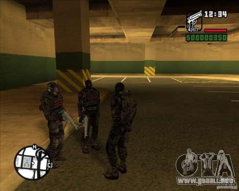 Grupo de acosadores deuda para GTA San Andreas segunda pantalla
