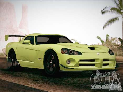 Dodge Viper SRT-10 ACR para la vista superior GTA San Andreas