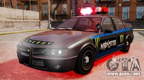 Policía Monster Energy para GTA 4