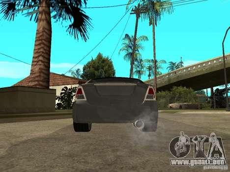 Ford Fusion 2008 Dub para GTA San Andreas vista posterior izquierda
