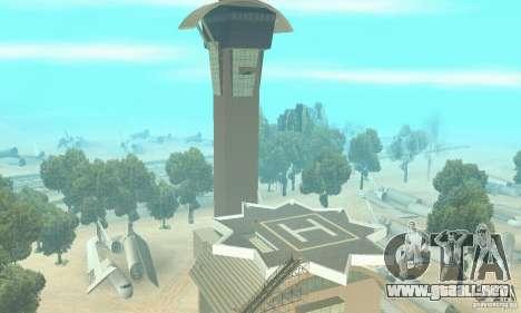 Un aeropuerto abandonado en el desierto para GTA San Andreas segunda pantalla