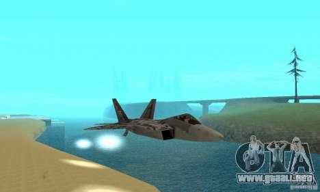 F-22 Starscream para vista inferior GTA San Andreas