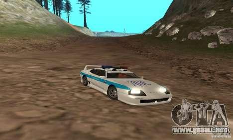 Jester Russian Police para la vista superior GTA San Andreas
