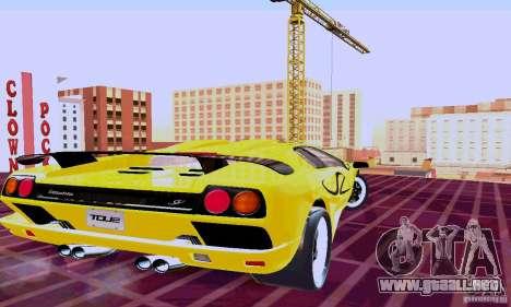 Lamborghini Diablo SV 1997 para GTA San Andreas vista posterior izquierda