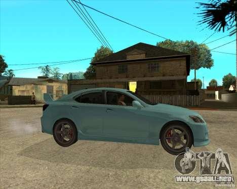2007 Lexus IS350 para la visión correcta GTA San Andreas