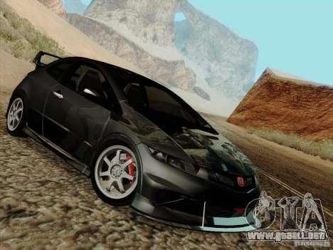 Honda Civic TypeR Mugen 2010 para GTA San Andreas vista hacia atrás
