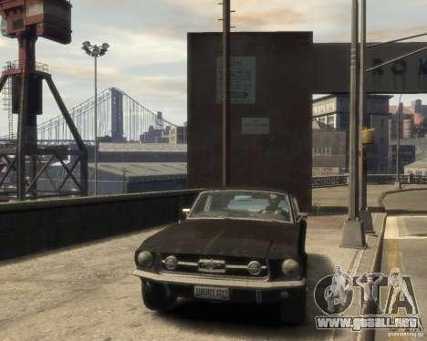 1967 Ford Mustang para GTA 4 vista hacia atrás
