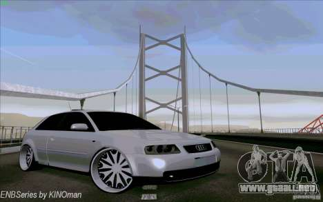 Audi A3 DUB Edition para vista lateral GTA San Andreas