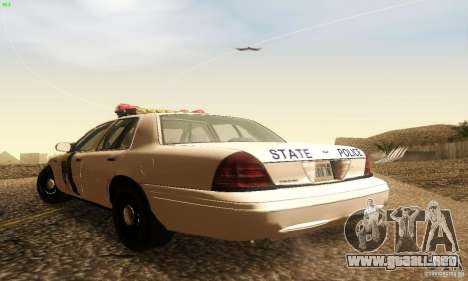 Ford Crown Victoria New Jersey Police para GTA San Andreas left