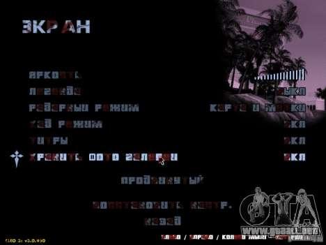 Maldito texto para GTA San Andreas tercera pantalla