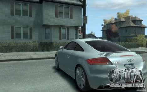 Audi TT-RS para GTA 4 Vista posterior izquierda