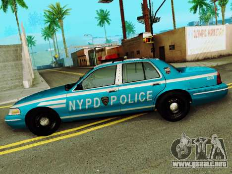 Ford Crown Victoria 2003 NYPD Blue para GTA San Andreas left