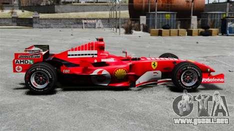 Ferrari F2005 para GTA 4 left