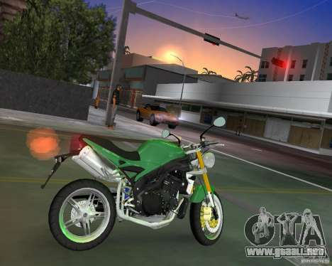 Triumph Speed Triple para GTA Vice City left