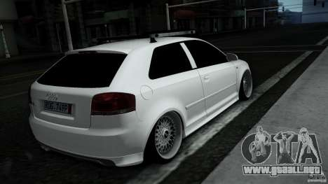 Audi S3 Euro para la visión correcta GTA San Andreas
