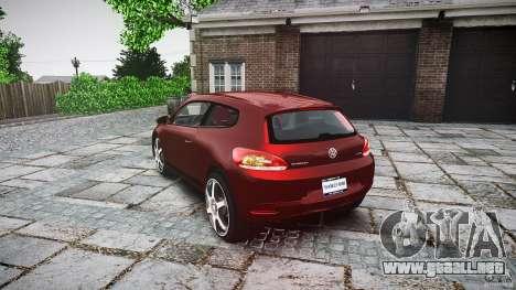 Volkswagen Scirocco 2.0 TSI para GTA 4 Vista posterior izquierda