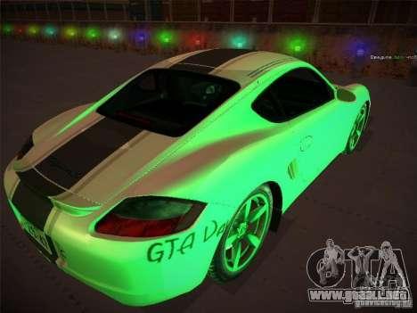 Porsche Cayman S Snow para GTA San Andreas left