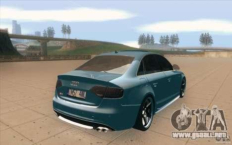 Audi S4 2009 para vista lateral GTA San Andreas