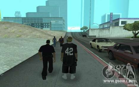 Nuevos aspectos Los Santos Vagos para GTA San Andreas segunda pantalla