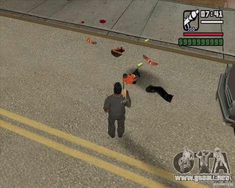 Real Ragdoll Mod Update 2011.09.15 para GTA San Andreas