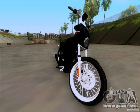 Harley Davidson FXD Super Glide para GTA San Andreas vista posterior izquierda