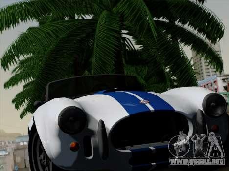 Shelby Cobra 427 para visión interna GTA San Andreas