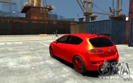 Seat Leon Cupra Light Tuning para GTA 4 Vista posterior izquierda