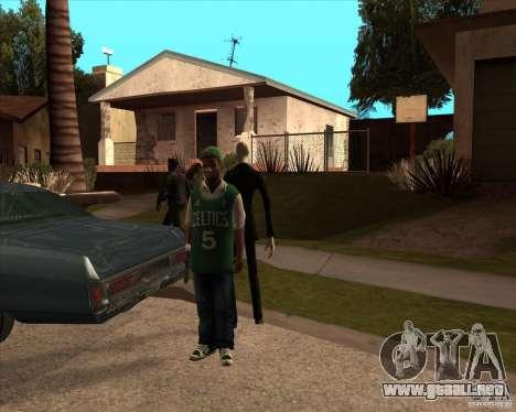 Delgado en gafas oscuras para GTA San Andreas segunda pantalla