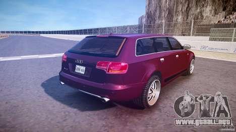 Audi A6 Allroad Quattro 2007 wheel 1 para GTA 4 vista desde abajo