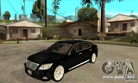 Lexus LS460L 2010 para GTA San Andreas