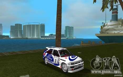 Ford Escort Cosworth RS para GTA Vice City vista posterior