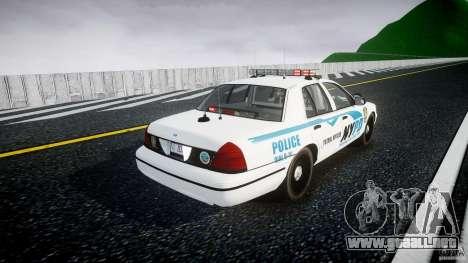Ford Crown Victoria v2 NYPD [ELS] para GTA 4 vista lateral