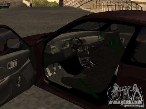 Honda Civic CRX JDM para visión interna GTA San Andreas