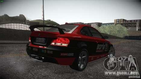 BMW 135i Coupe Road Edition para GTA San Andreas interior