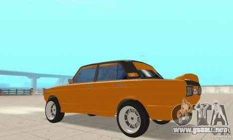 VAZ 2107 Off Road para GTA San Andreas vista hacia atrás