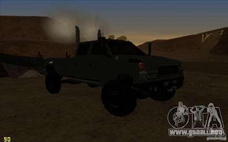 GMC Topkick Ironhide TF3 para GTA San Andreas vista hacia atrás