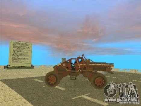 Jeep from Red Faction Guerrilla para GTA San Andreas vista posterior izquierda