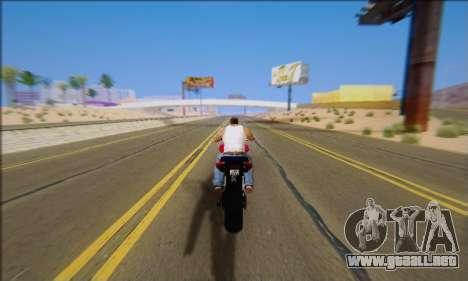 Honda CB600F Hornet 2012 para visión interna GTA San Andreas