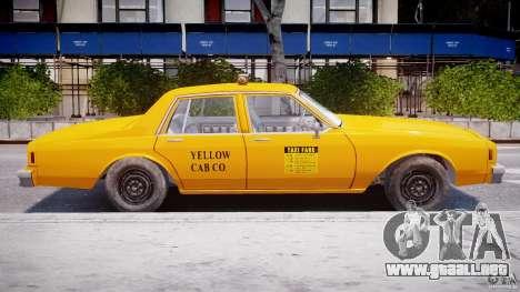 Chevrolet Impala Taxi 1983 para GTA 4 Vista posterior izquierda