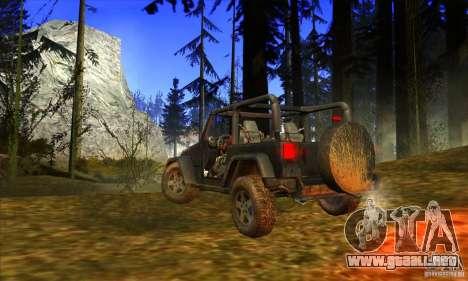 Jeep Wrangler para la visión correcta GTA San Andreas