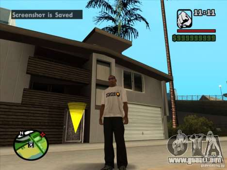 Camiseta Peliculas para GTA San Andreas segunda pantalla