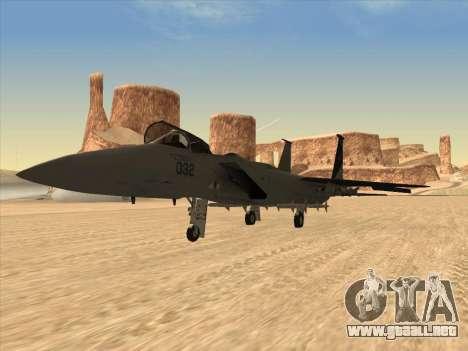 F-15C para GTA San Andreas vista posterior izquierda