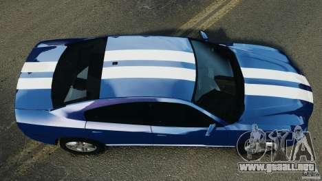Dodge Charger Unmarked Police 2012 [ELS] para GTA 4 visión correcta