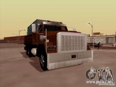 New Flatbed para GTA San Andreas left